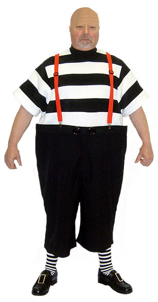 Mens Tweedle Dee Alice in Wonderland Costume Image