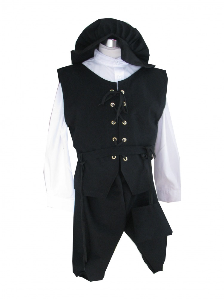 Boys Tudor Victorian Costume Age 8 - 10 Years Image