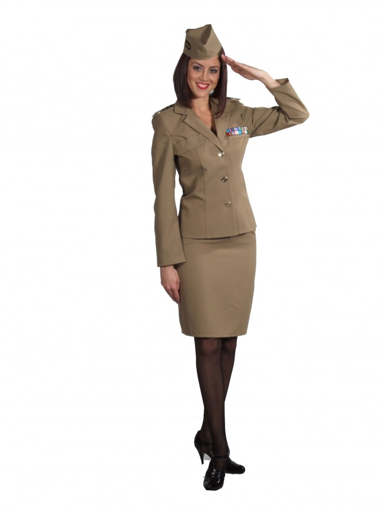 Ladies 1940s Wartime WWII Andrews Sisters Uniform XS-S Image