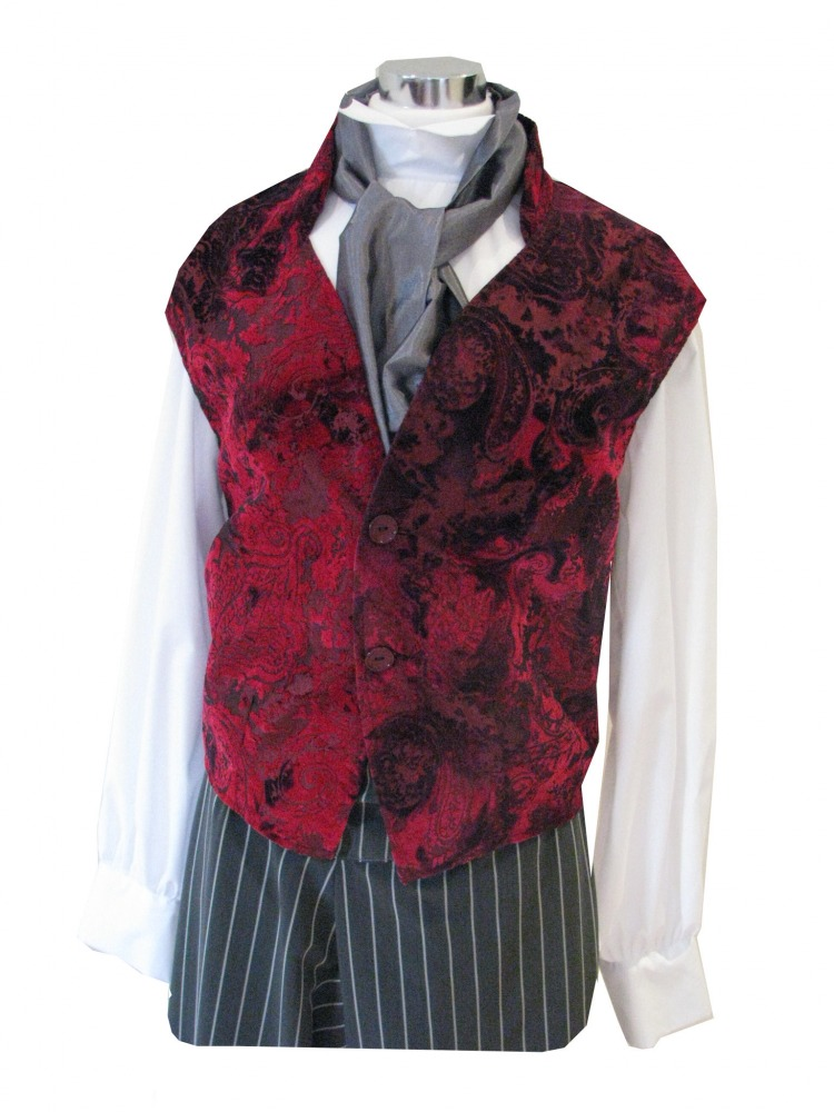 Men's Victorian Edwardian Working Class Poor Man Barber Sweeney Todd Costume Size M - L Image