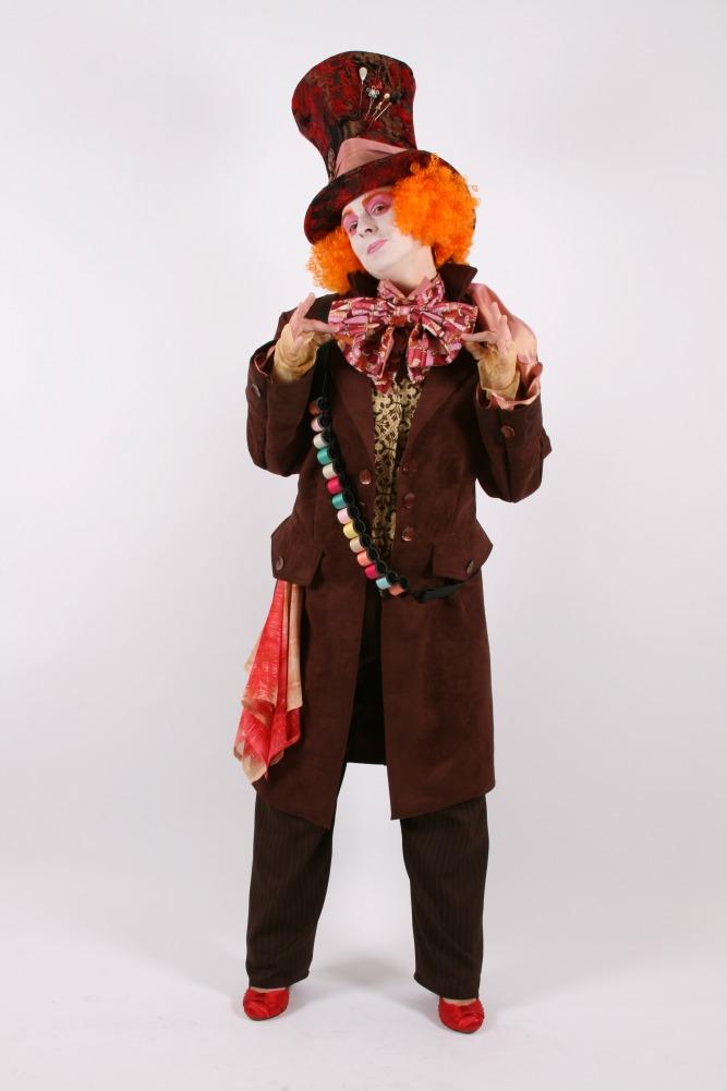 Men's Ladies Alice in Wonderland Mad Hatter Costume Image
