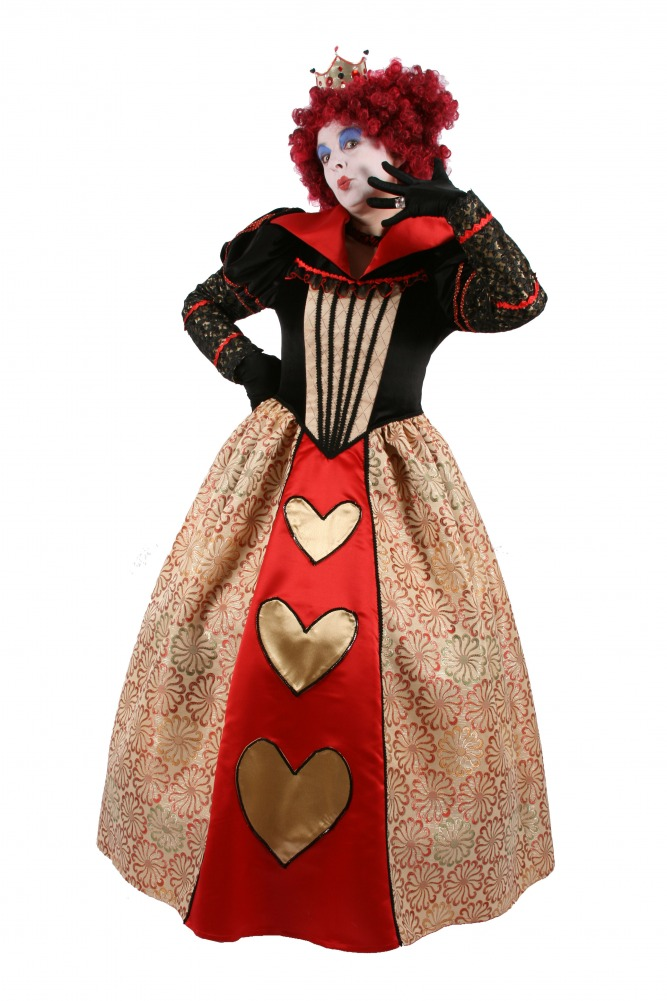Ladies Queen Of Hearts Costume Size 10 - 12 Image