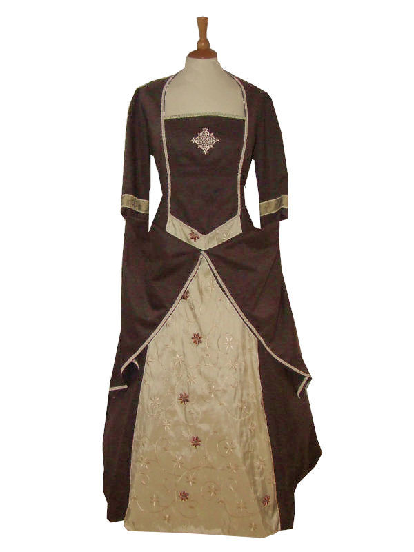 Ladies Medieval Tudor Costume And Headdress Size 20 - 24 Image