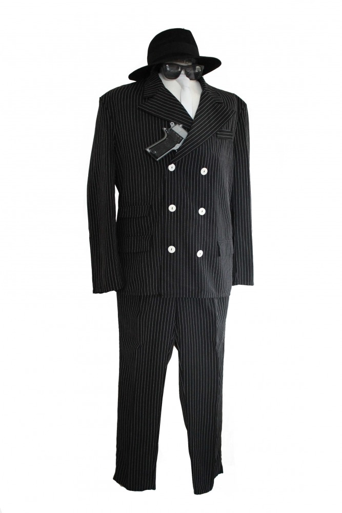 Men's 1920s 1930s Gangster Costume Image
