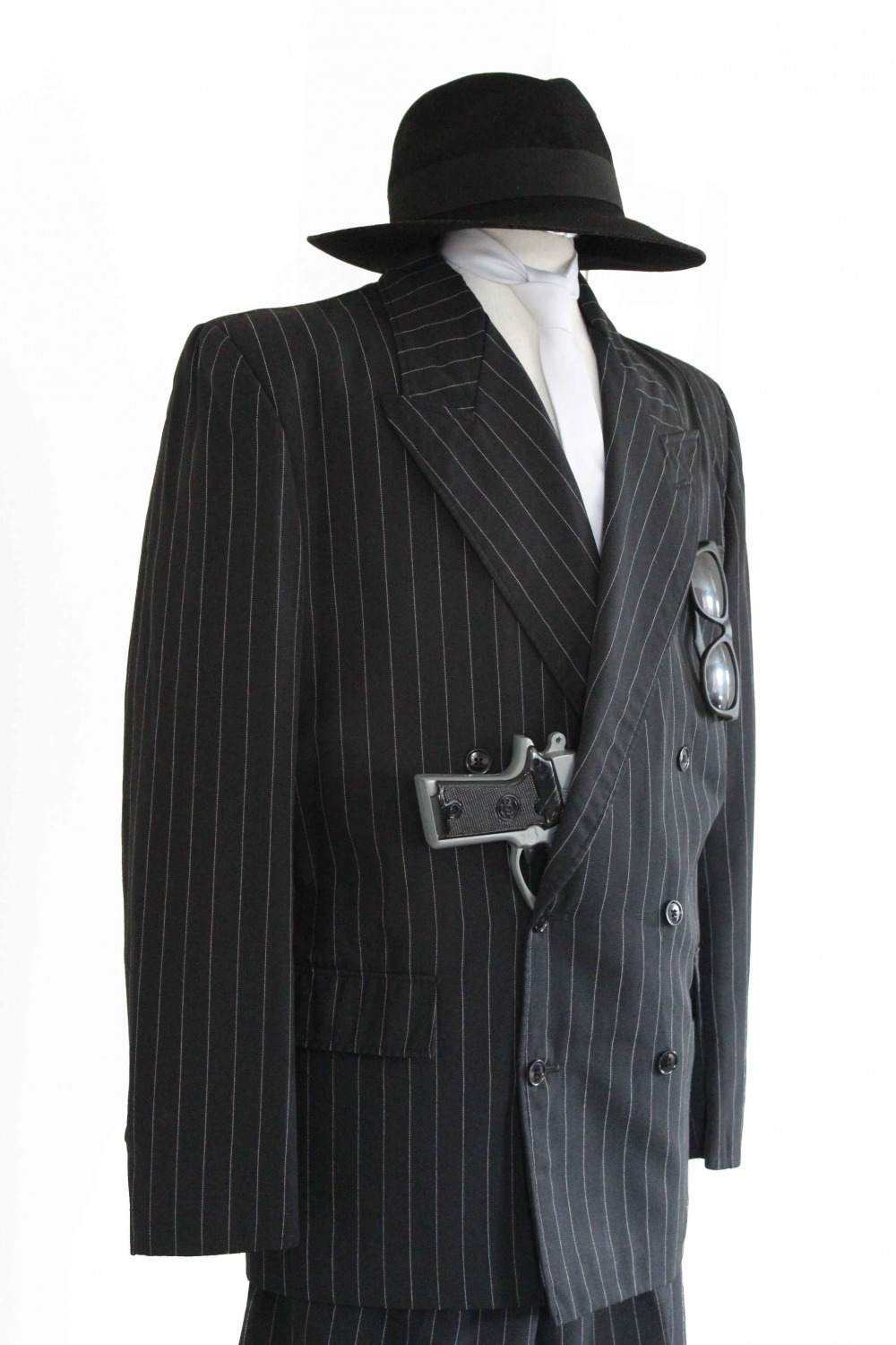 Mens 1920s 1930s Gangster Blues Brothers Costume Image