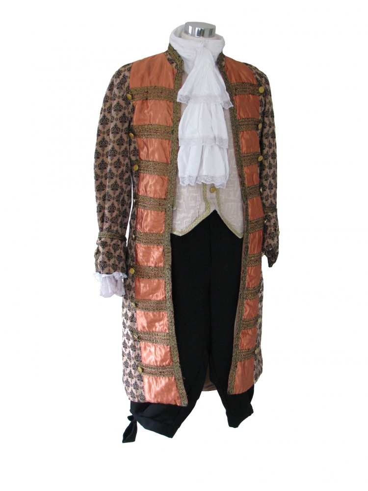Men's Deluxe 18th Century Masked Ball Costume Image