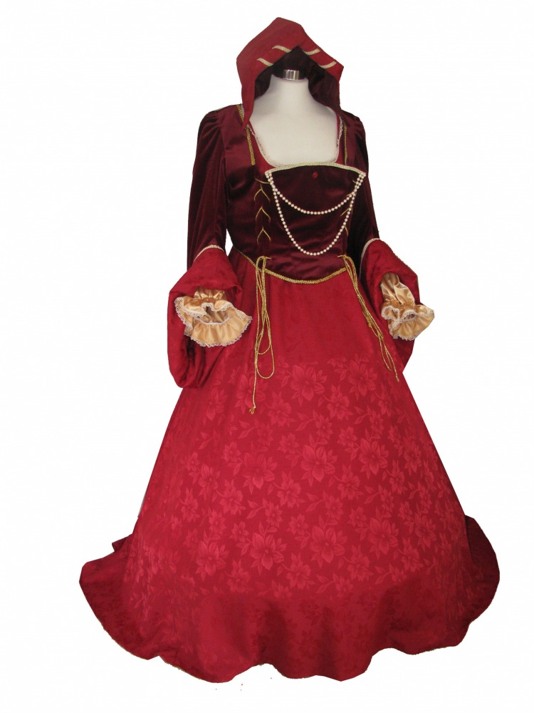 Ladies Deluxe Medieval Tudor Catherine of Aragon Costume Size 18 - 22 Image