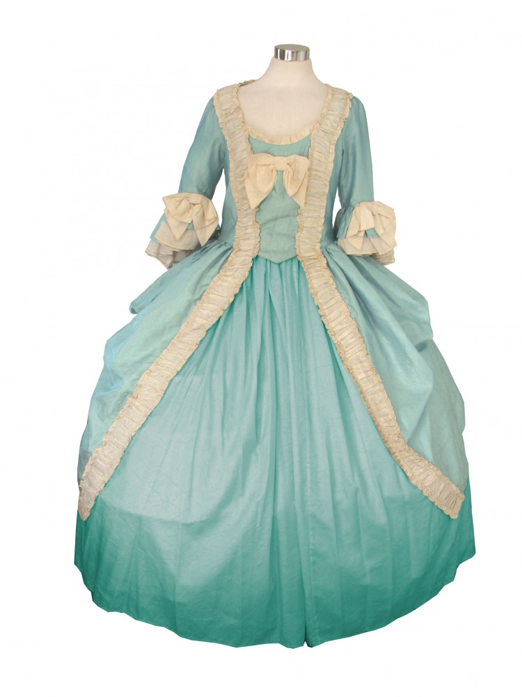Deluxe Ladies 18th Century Marie Antoinette Masked Ball Costume Image