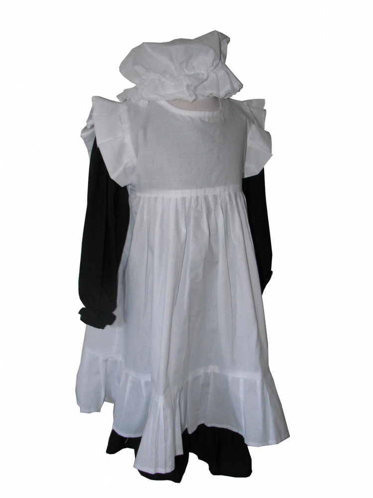 Girls' Victorian Costume Age 6 - 8 Years Image