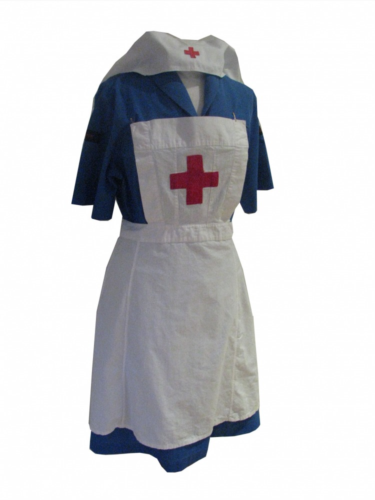 Ladies 1940s Wartime Red Cross Nurse Costume Size 14 16