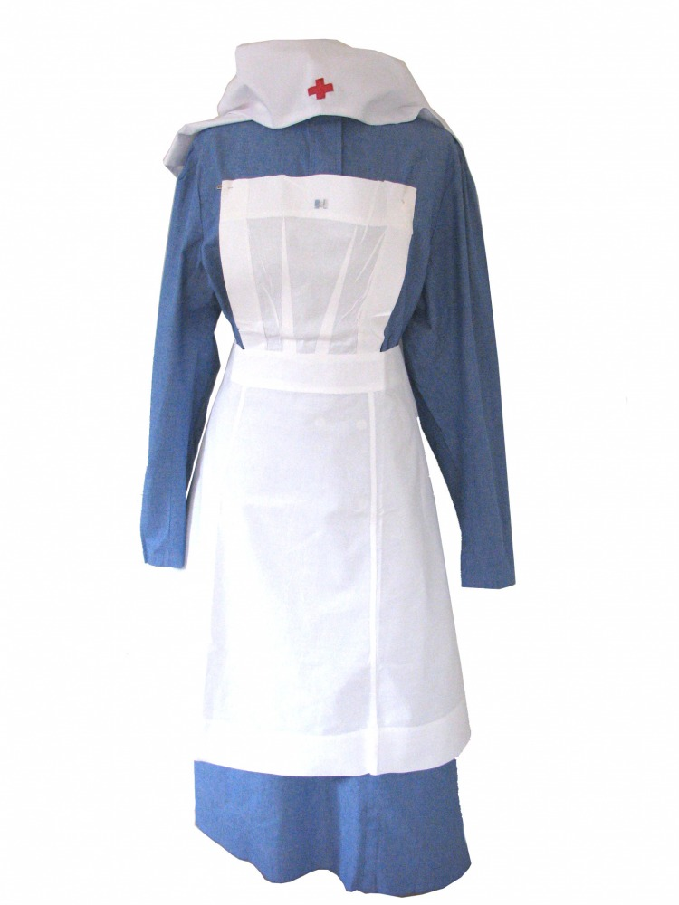 Ladies 1940s Vintage Wartime Nurse Uniform Size 18 - 20 Image