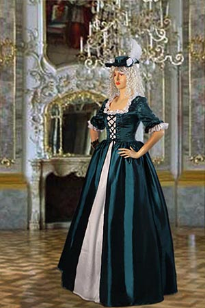 Ladies 18th Century Masked Ball Costume Baroque Size 8 - 10 ...