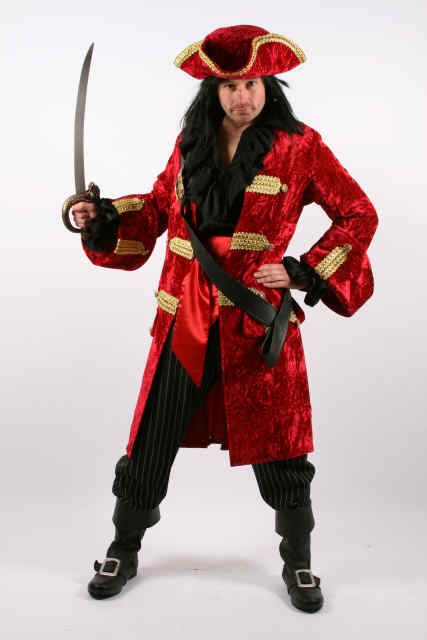 Men's Quality Jack Sparrow Pirates of the Carribean Costume Image