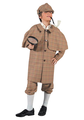 Boy's Victorian Edwardian Sherlock Holmes Costume Image