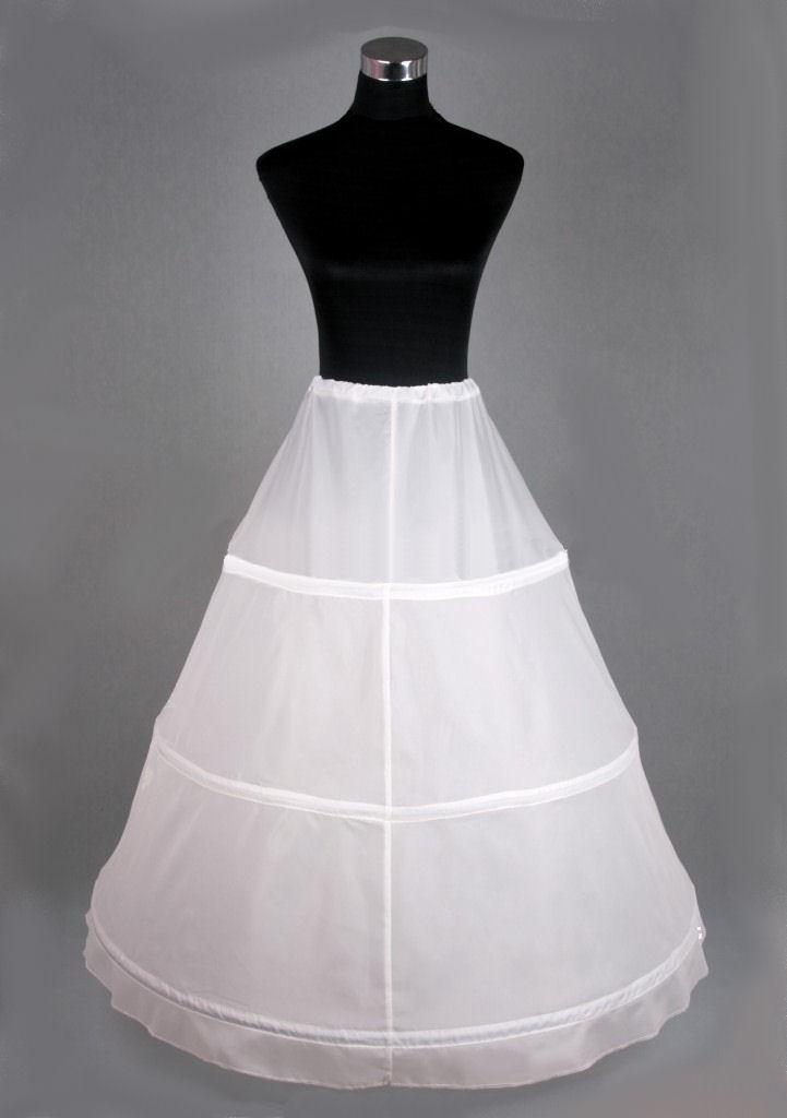 Ladies White Medieval Victorian Three Hooped Underskirt Image