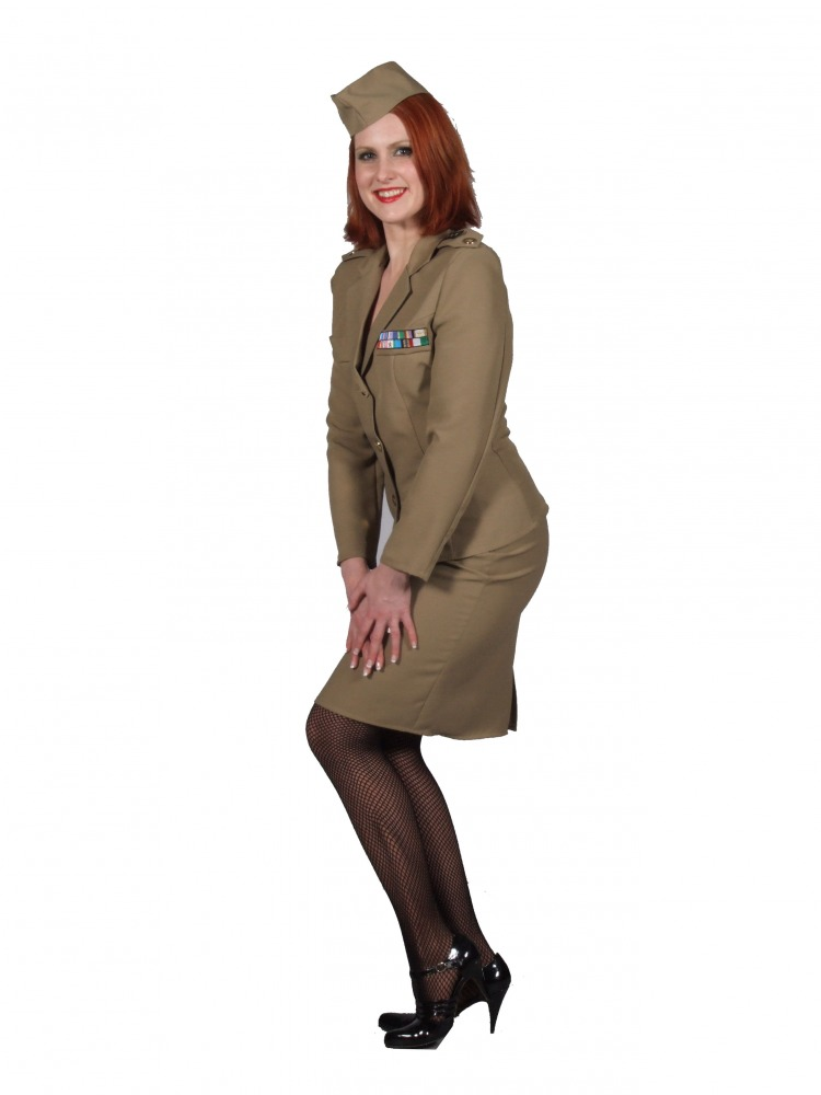 Ladies 1940s Wartime WWII Andrews Sisters Uniform XXL Size 24 - 26 Image