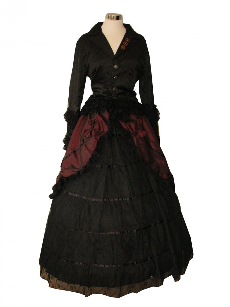Ladies Victorian Edwardian Day Costume Size 12 - 14 Image