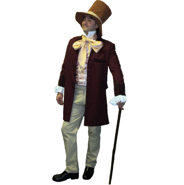 Men's Quality Willy Wonka Charlie and The Chocolate Factory Costume Image