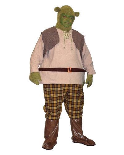 Men's Medieval Hooped Ogre 'Shrek' Costume Image