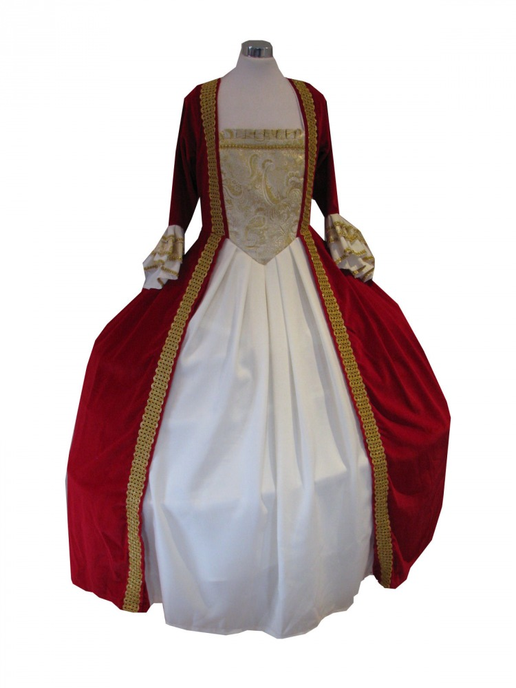 Deluxe Ladies 18th Century Marie Antoinette Masked Ball Costume Size 12 - 14 Image