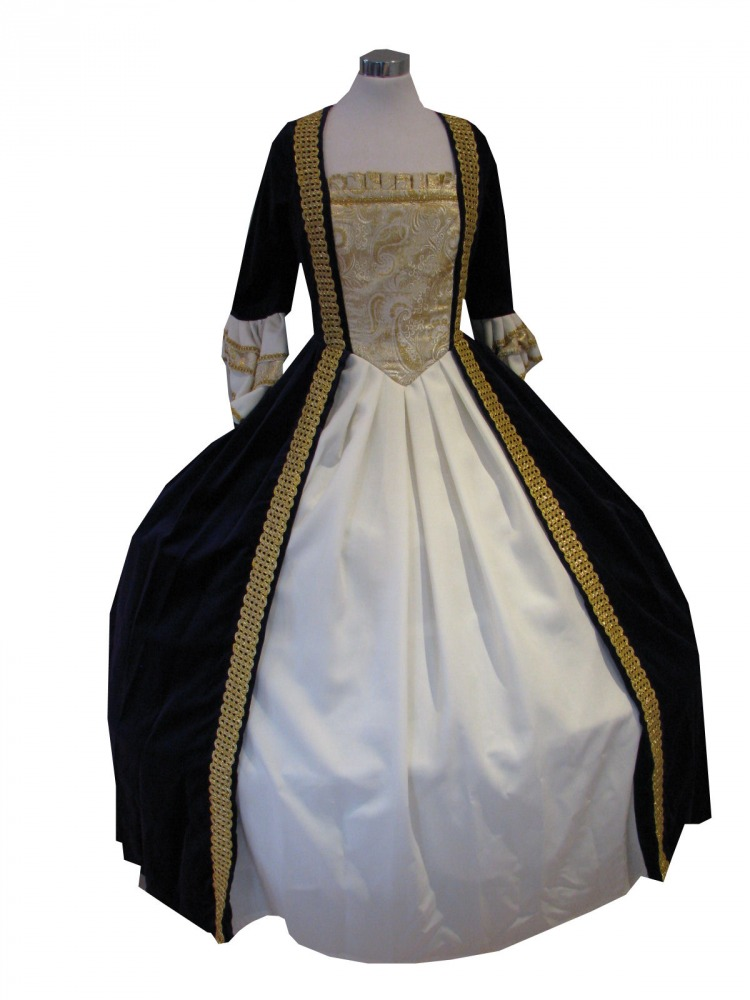 Deluxe Ladies 18th Century Marie Antoinette Masked Ball Costume Size 8 - 10 Image