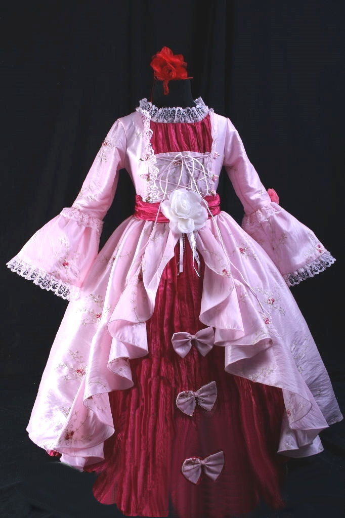 Girl's Marie Antoinette Georgian Victorian Costume Image