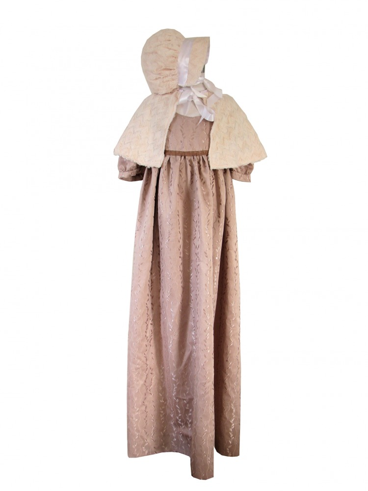 Girl's Regency Jane Austen Victorian Empire Line Gown Age 11 - 12 Years Image