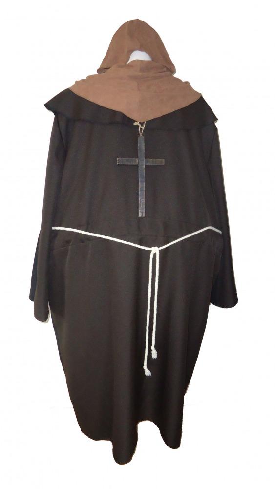 Mens Ladies Medieval Hooped Monk Nun Costume Image