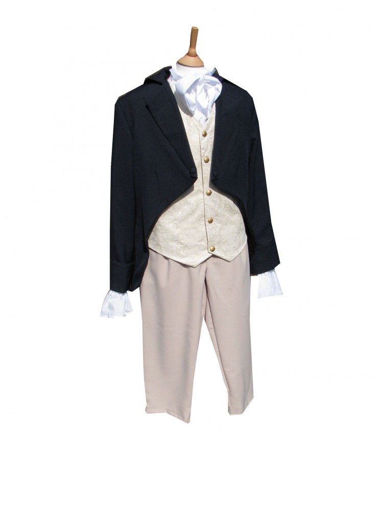 Men's Deluxe Regency Mr. Darcy Victorian Costume Size S/M Image