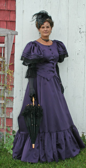 Ladies Deluxe Victorian Edwardian Costume Size 10 - 12 Image