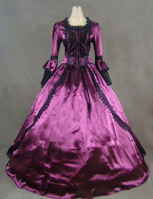Ladies 18th Century Marie Antoinette Masked Ball Victorian Costume Size 10 - 12 Image