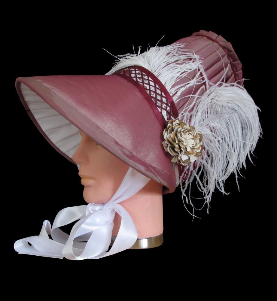 Ladies Deluxe Jane Austen Regency Bonnet Image