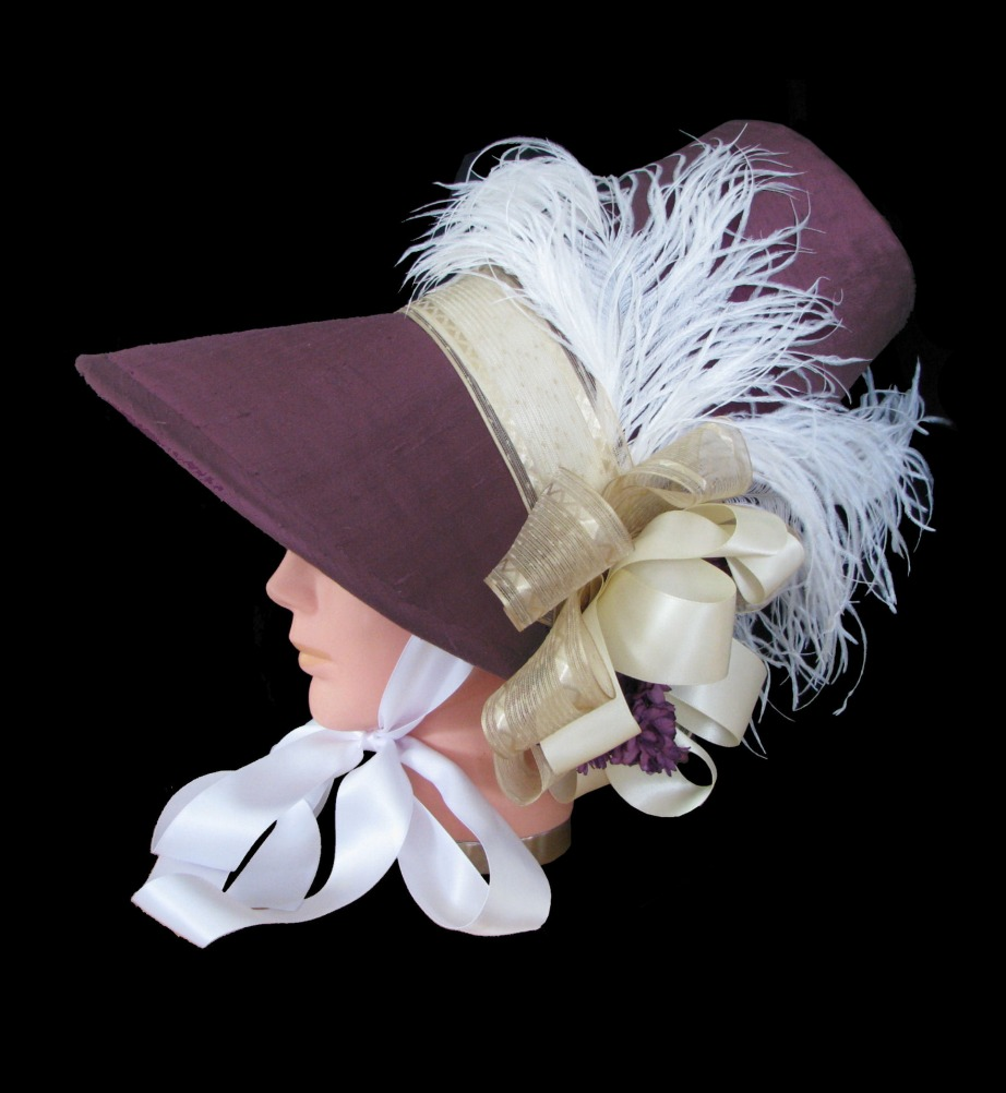 Ladies Deluxe Jane Austen Regency Bonnet Image