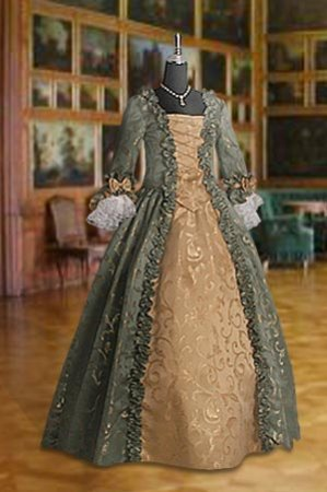 Deluxe Ladies 18th Century Marie Antoinette Georgian Masked Ball Costume Size 8 - 10 Image