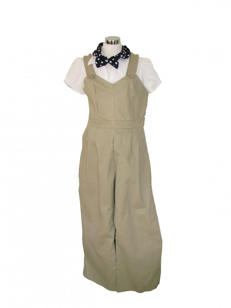 Ladies 1940s Wartime Land Army Costume Size 14 - 16 Image
