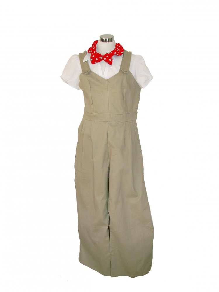 Ladies 1940s Wartime Land Army Costume Size 10 - 12 Image