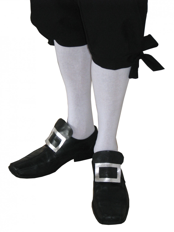 Men's Regency Mr. Darcy Georgian Victorian Edwardian Knee Length White Stockings Image