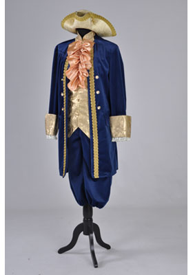 Deluxe Men's 18th Century Masked Ball Costume Size XL Image