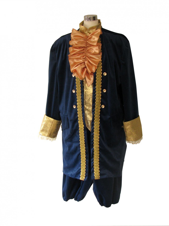 Deluxe Men's 18th Century Masked Ball Georgian Costume Image