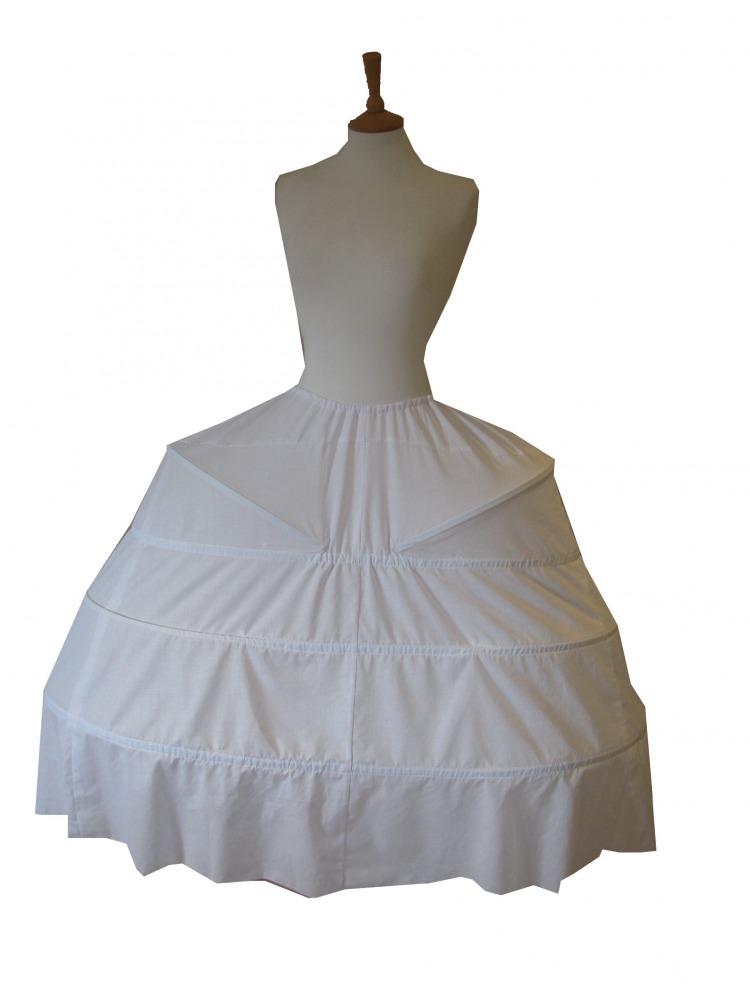 Ladies 18th Century Marie Antoinette Style Pannier Underskirt Image