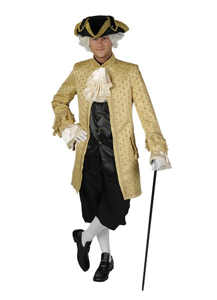 Deluxe Mens 18th Century Masked Ball Georgian Costume