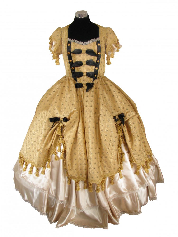 Deluxe Ladies 18th Century Marie Antoinette Georgian Masked Ball Costume Size 10 - 12 Image