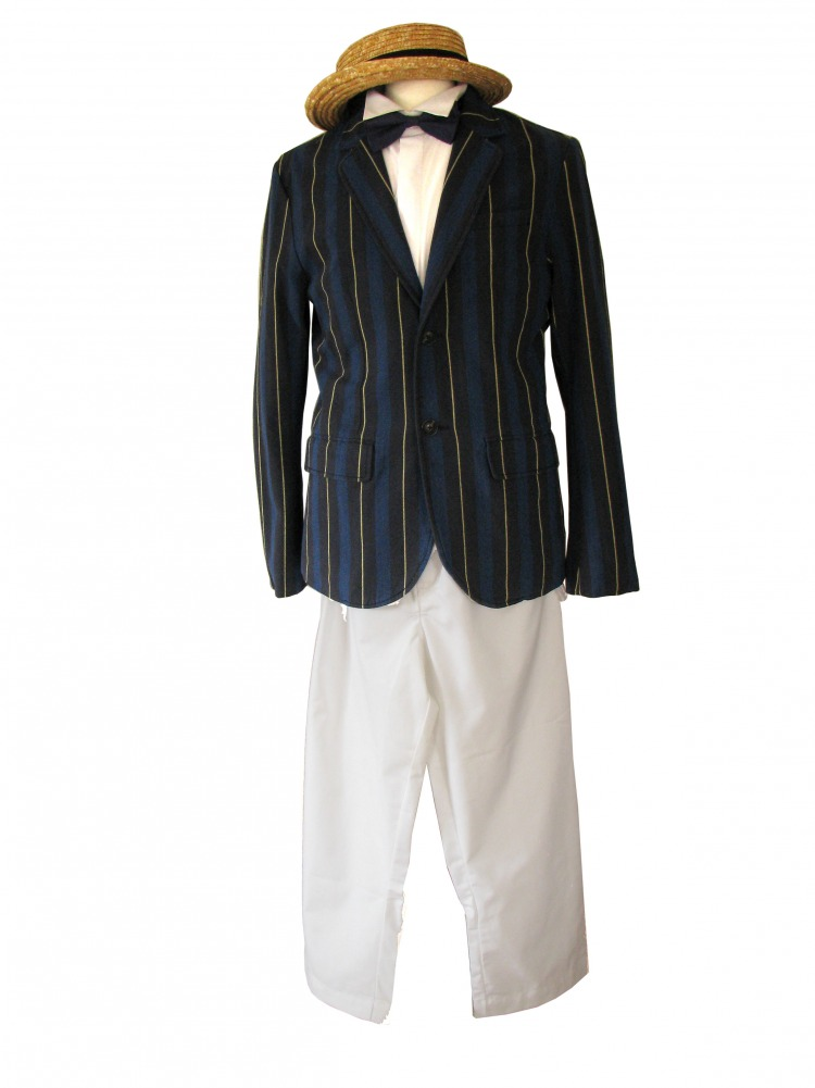 Men's 1920s 1930s Victorian Edwardian Boating Jacket Size Medium Image