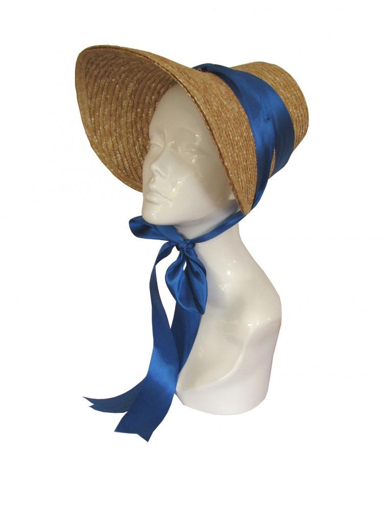 Ladies Jane Austen Straw Poke Bonnet Image