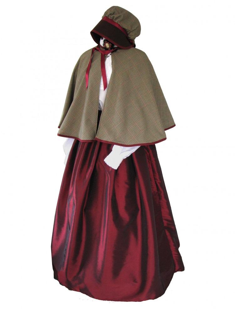 Ladies Victorian Carol Singer School Mistress Costume Size 14 18