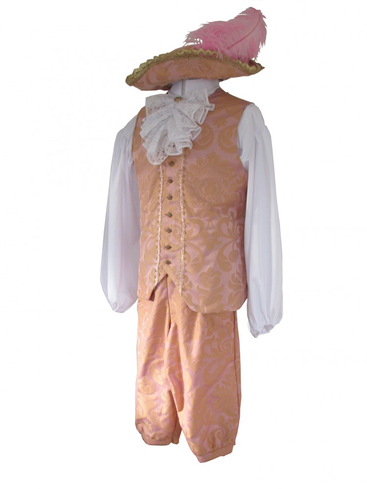 Deluxe Men's 18th Century Masked Ball Georgian Costume Image