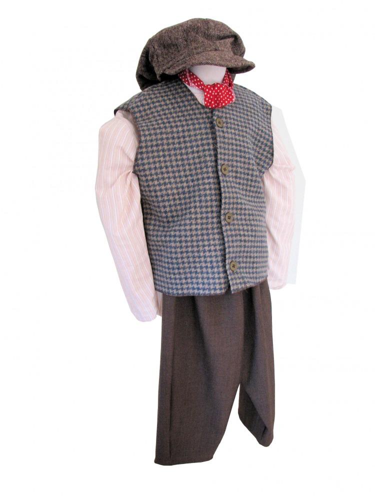 Boys Victorian Edwardian Oliver Twist Costume Complete