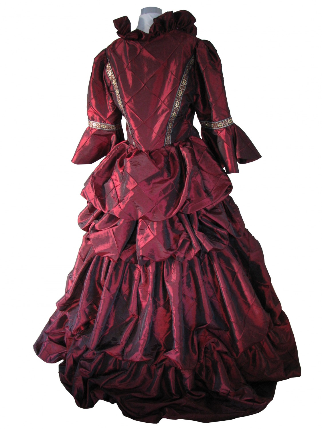 Ladies Deluxe Victorian Evening Ball Gown Size 16 - 18 - Complete ...