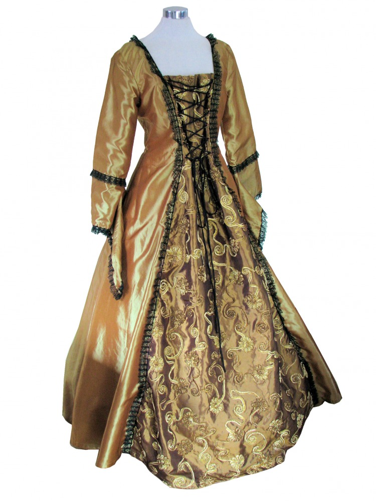 Ladies Medieval Renaissance Costume And Headdress Size 14 - 16 Image