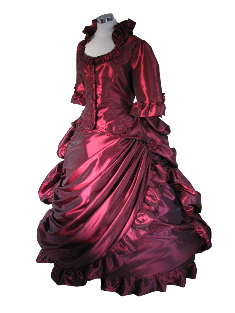 Ladies Deluxe Victorian Evening Ball Gown Size 10 - 12 - Complete ...